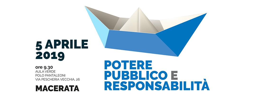 5 aprile - Potere pubblico e responsabilità